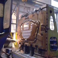 Manufacturing of mould for insulation layer over car engine pressing