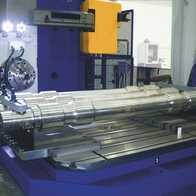 Machining of train axles