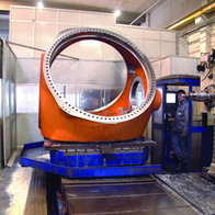 Machining of blade hub for wind turbine