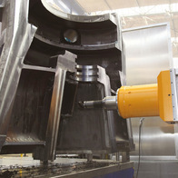Turbine body machining