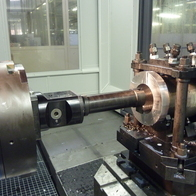 Turning of the valve using D´Andread faceplate