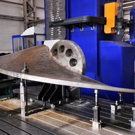 Machining of the base of the turbine blade