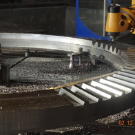 Machining of the conical gear