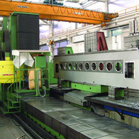 Machining of glass-processing machine frame