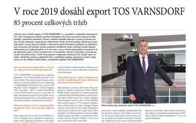 TOS VARNSDORF exports reached 85% of total sales
