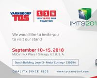IMTS 2018 Chicago - South Building - Booth No. 338994